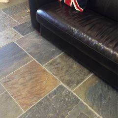 Rustic Gold Slate Flooring