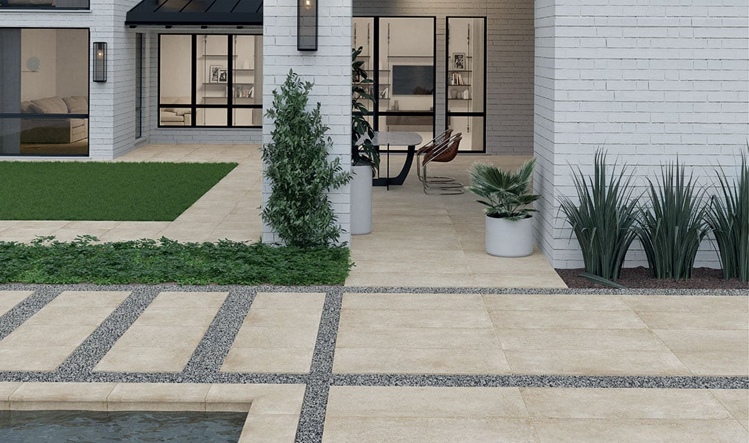 Inspiration For The Layout Of Your Modern Garden Paving Slabs & Tiles 01