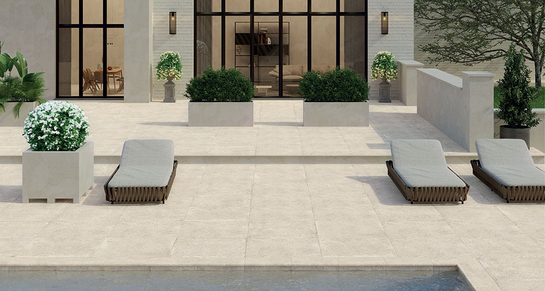 Inspiration For The Layout Of Your Modern Garden Paving Slabs & Tiles 02