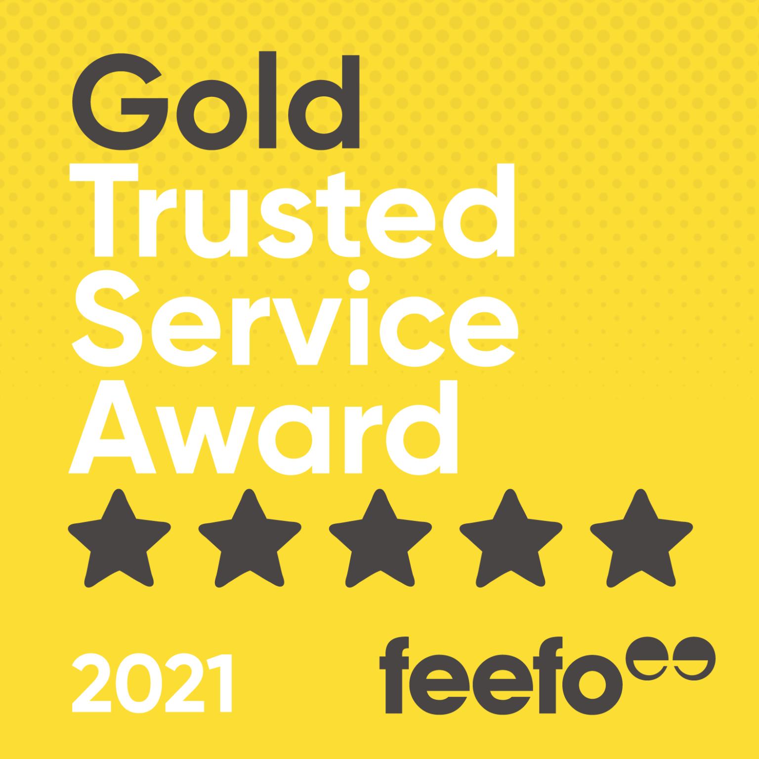 Feefo Gold Award 2021